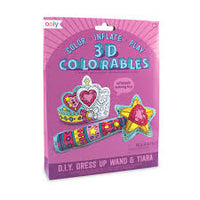 Dress Up Wand & Tiara - 3D Colorables