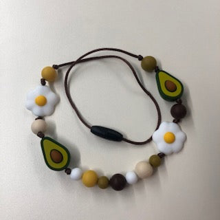 22 inch Chewelry Necklace- Avocado/ Egg