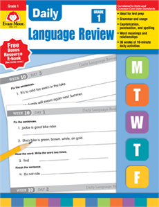 Daily Language Review Grade 1