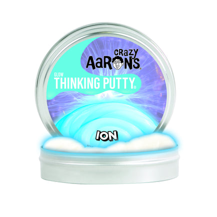 "Crazy Aaron's Thinking Putty -- Ion Glow  3.5"" tin"