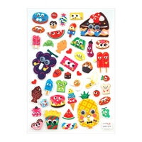 Itsy Bitsy Super Cute Stickers - Food