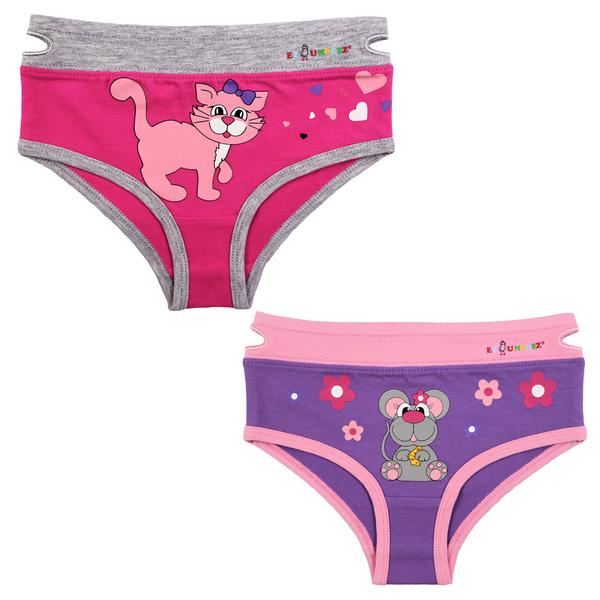 EZ undeez Kitty-mouse Girls Briefs (4-5yrs)