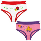 EZ undeez Ladybug-Butterfly Girls Briefs (4-5yrs)