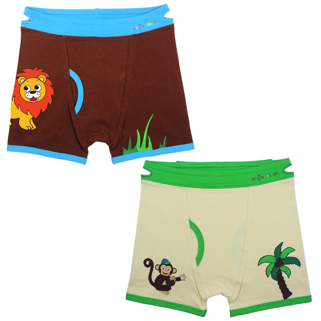 EZ undeez Monkey-Lion Boxer Briefs (2-3yr)