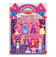 Princess Reusable Puffy Stickers