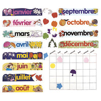 French Canadian Monthly Calendar Set