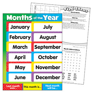 Months of the Year Stars