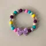 Chewelry Bracelet- Multi Coloured Bow
