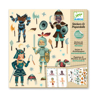 Djeco Stickers & Paperdolls -- Knights