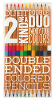 Set of 12 Two of A Kind Double Ended Colored Pencils