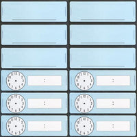Classroom Clock Magnets &  Blank Classroom Magnets 12 pack
