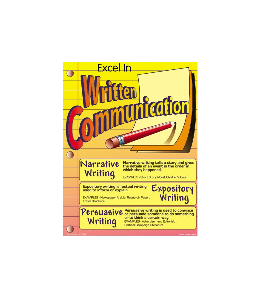 Excel in Written Communication poster