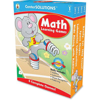 Center Solutions Math Learning Games - Grade 1