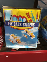 Fly back foam gliders