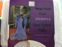 Make Your Own -- Slime Flubber Putty (Purple) -- Pink Grapefruit Scent