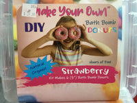 Make It Yourself -- Bath Bomb Donuts -- Strawberry