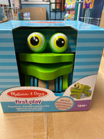 First play- frolicking frog pull toy