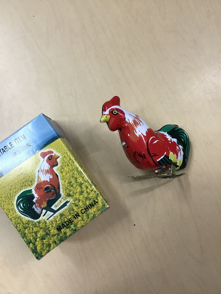 Hopping Rooster Tin