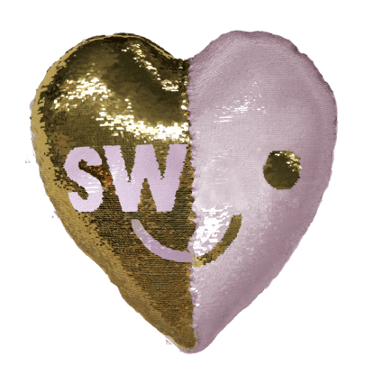 Mini Swak/Love Sequin Pillow