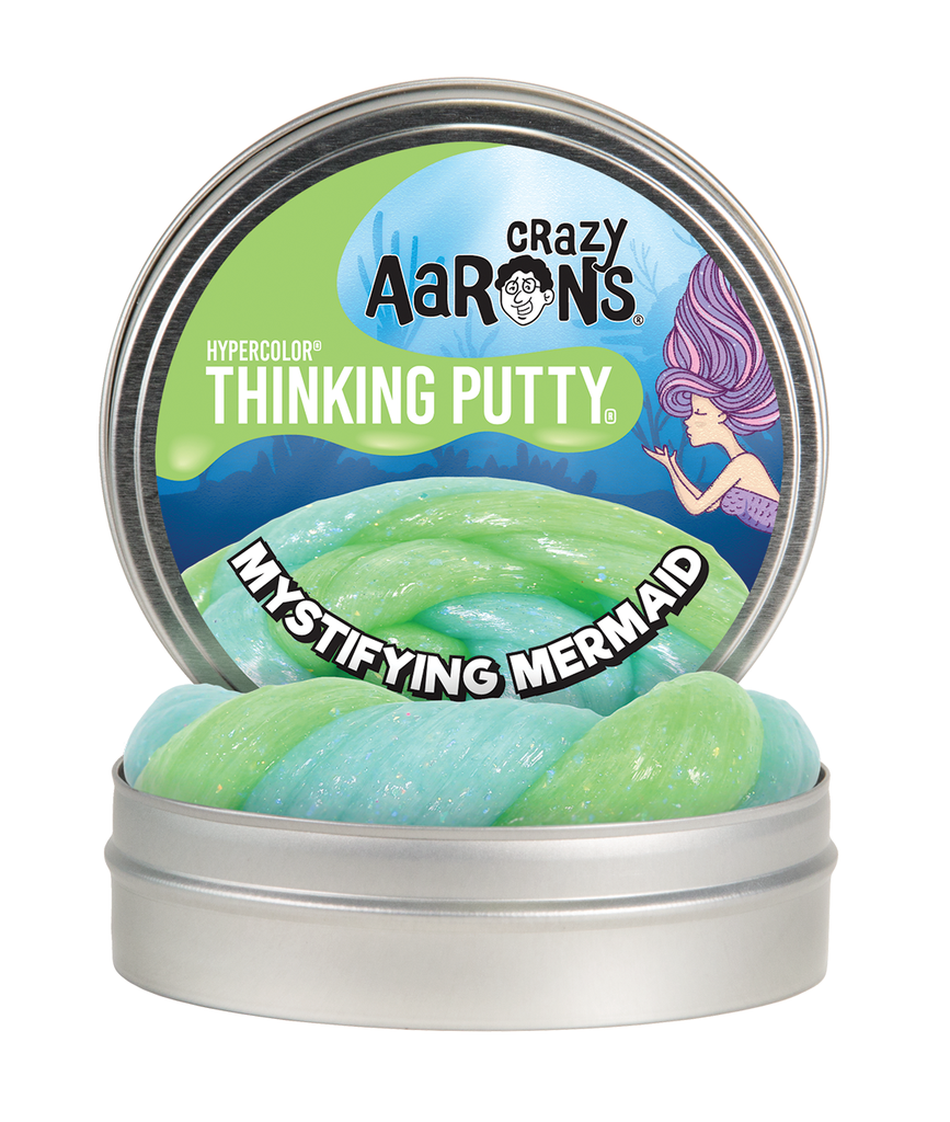 "Crazy Aaron's Thinking Putty -- Mystifying Mermaid  3.5"" tin"