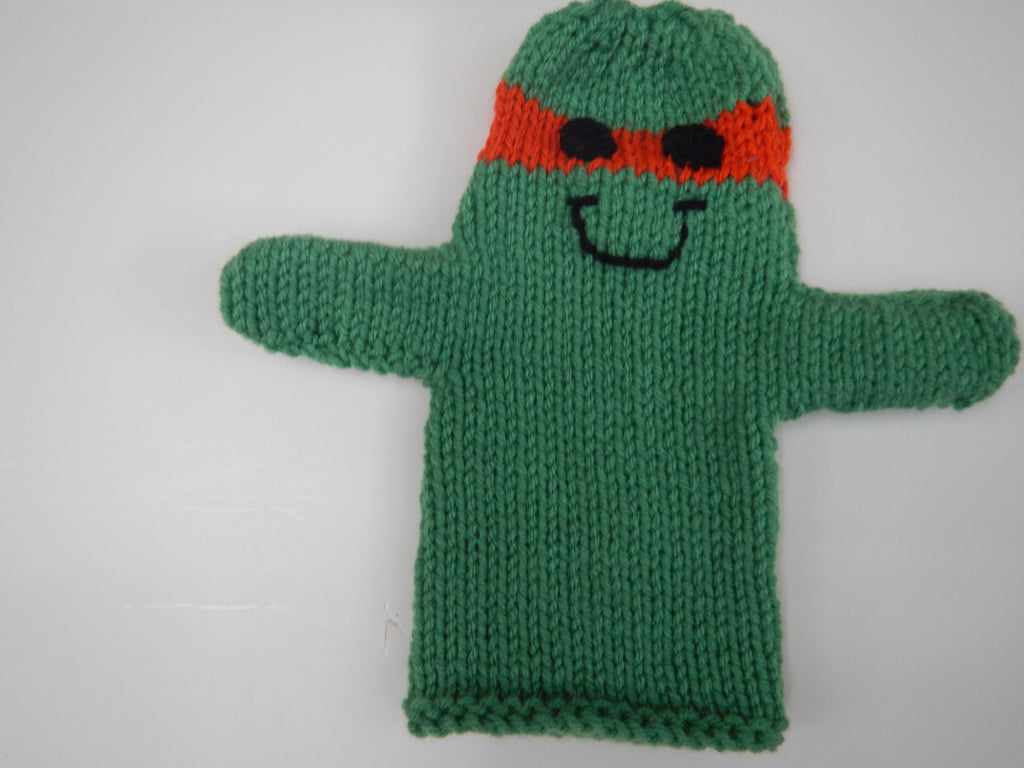 Orange Ninja Turtle Hand Puppet