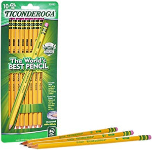 10pcs - #2 Yellow Pencils by Dixon-Ticonderoga