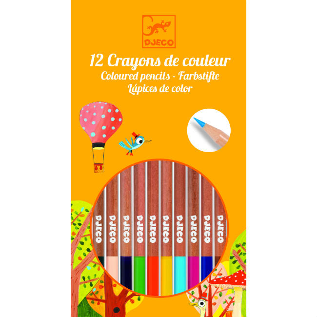 Djeco Coloring Pencils -- 12 Pack
