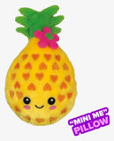 Mini Pineapple Furry Pillow -- Pineapple Scent