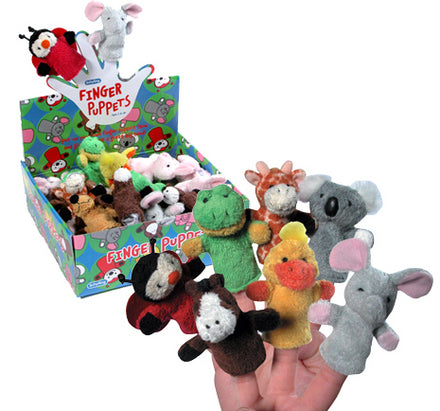 Plush Finger Puppets -- Assorted