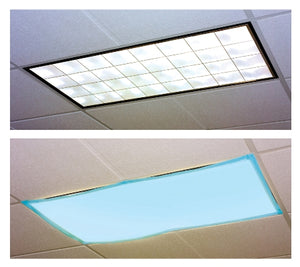Fluorescent Light Classroom  Filters Tranquil Blue - Set of 4