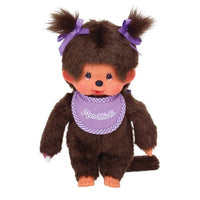 Monchhichi -- Girl Purple Bib