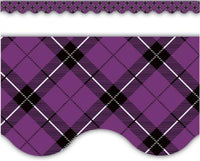 Purple Plaid Scalloped Border Trim