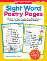 Sight Word Poetry Pages- Pre K-2