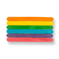 4-1/2″ Colored Craft Sticks - 1000 count