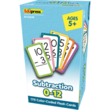 Subtraction Flash Cards All Facts 0-12