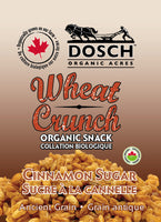 Wheat Crunch Organic Snack- Cinnamon Sugar 160 g bag