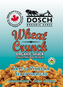 Wheat Crunch Organic Snack- Salt & Vinegar 160 g bag