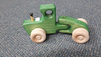 Wooden Hand Made Tractor