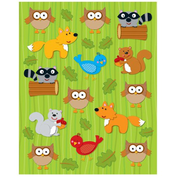 Woodland Animals Shape Stickers