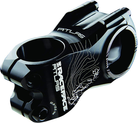 Race Face Atlas Mountain Bike Stem (Black, 31.8-mm Clamp)