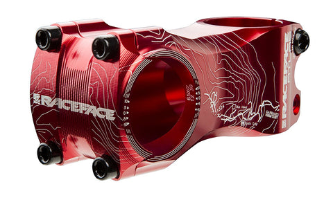 Race Face Atlas Mountain Bike Stem (Red, 31.8-mm Clamp, 50-mm, 1-1/8-Inch)