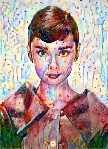 Audrey inspired commissioned art
