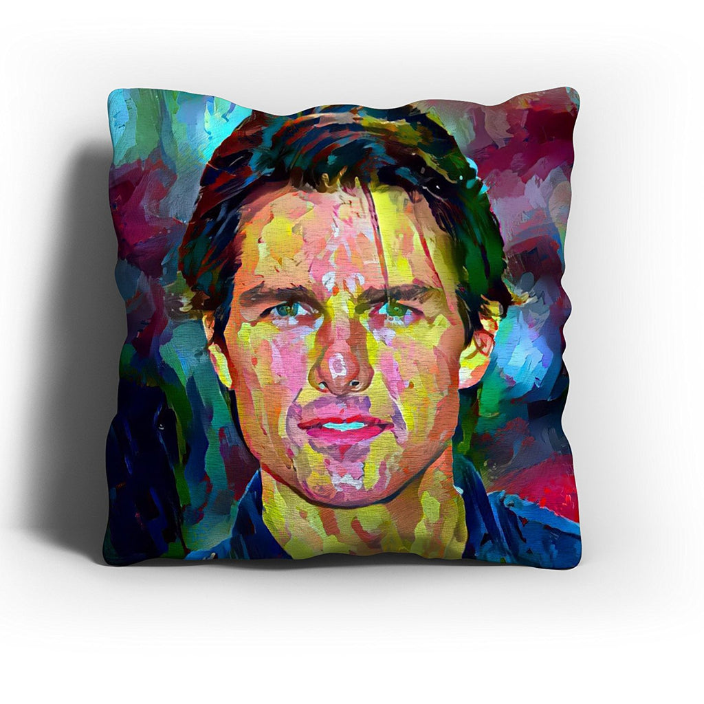Westlake Art - Tom Cruise Actor Throw Pillow Cover 16 inch - Modern Abstract Artwork for Home Office Decoration