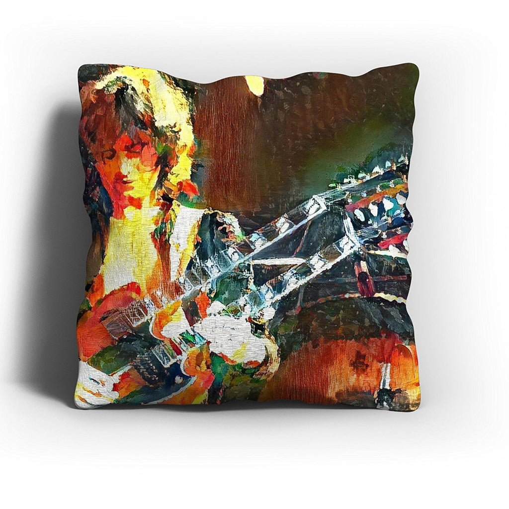 Westlake Art - Jimmy Page Led Zeppelin Guitarist Throw Pillow Cover 16 inch - Modern Abstract Artwork for Home Office Decoration