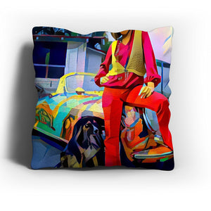 Westlake Art - Janis Joplin Music Artist Pop Art Throw Pillow Cover 16 inch - Modern Abstract Artwork for Home Office Decoration