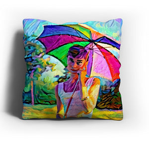 "Westlake Art - Audrey Hepburn ""Heemstra"" Hollywood Actress Pop Art Throw Pillow Cover 16 inch - Modern Abstract Artwork for Home Office Decoration"