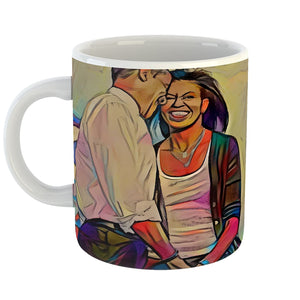 Westlake Art - Michelle & Barack Obama Couples Coffee Mug 11 oz - Modern Abstract Artwork for Home Office Decoration