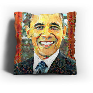 Westlake Art - Barack Obama President Throw Pillow Cover 16 inch - Modern Abstract Artwork for Home Office Decoration