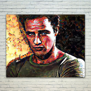 Westlake Art - Marlon Brando Actor 11x17in Modern Poster Prints Artwork Abstract Paintings Pictures Printed Wall Art for Home Office Decorations