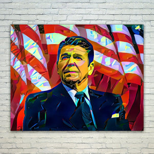Westlake Art - Ronald Reagan President 11x17in Modern Poster Prints Artwork Abstract Paintings Pictures Printed Wall Art for Home Office Decorations